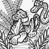 Jungle friends coloring page