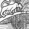 Jungle cougar coloring page