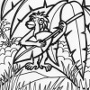 Jungle music coloring page