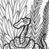 Jungle snake coloring page