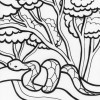 Rainforest snake coloring page