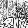 Rainforest monster coloring page