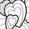 triple hearts coloring page