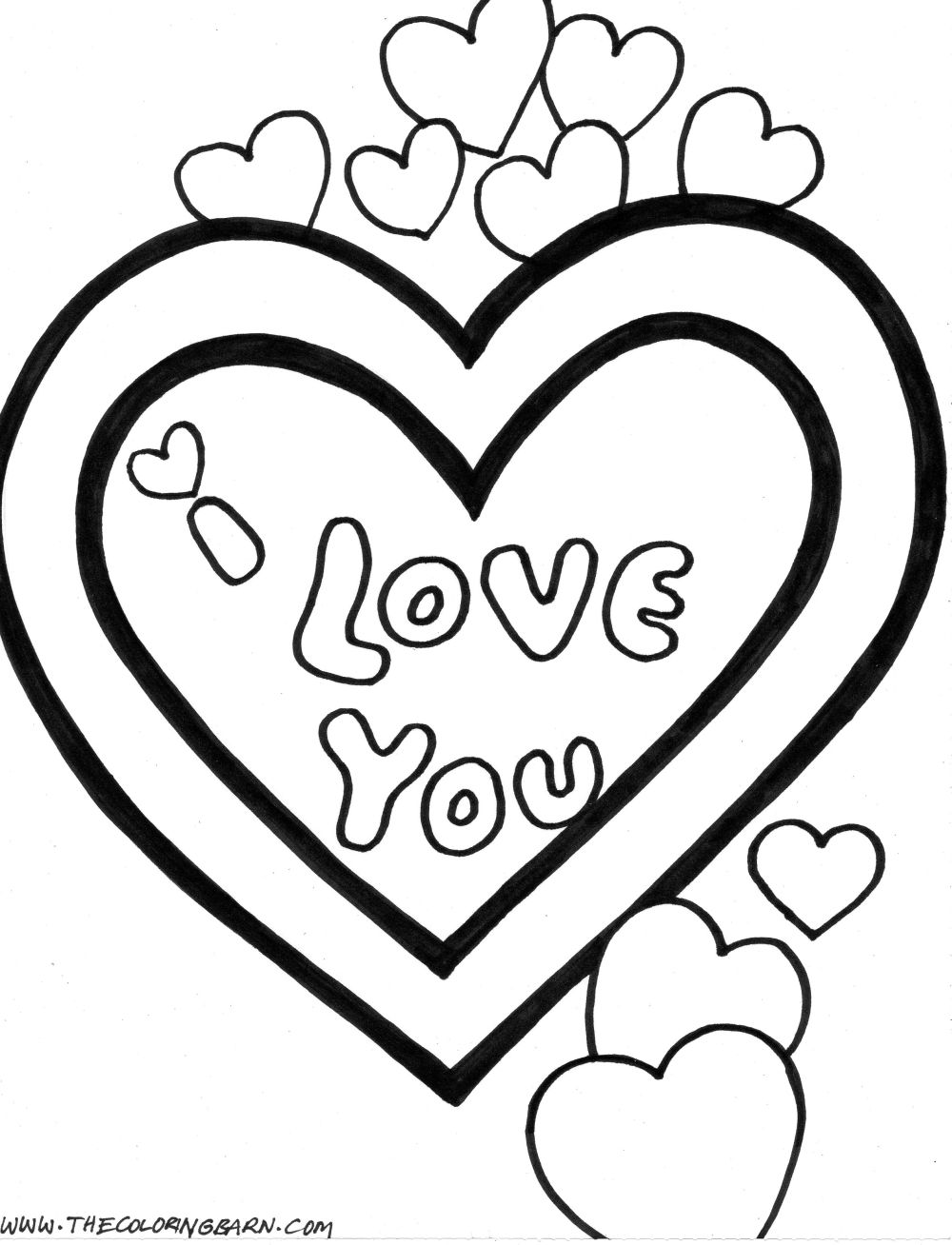 Valentine Coloring Pages: Hooray for Happy Heart's Day!