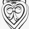 bow heart coloring page
