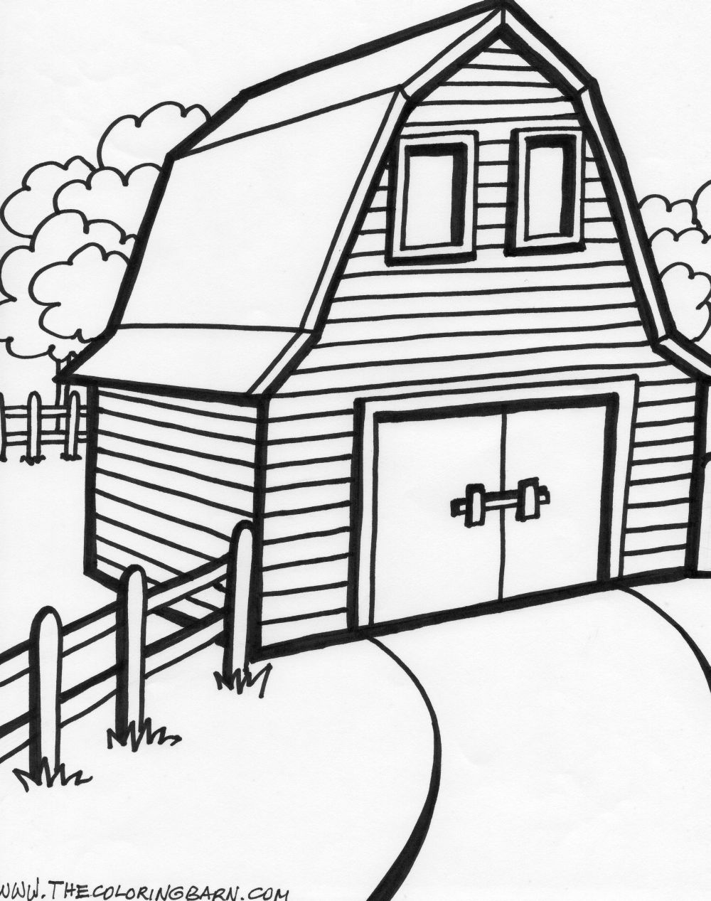 Red Barn Coloring Page http://www.thecoloringbarn.com/barn-coloring-pages.html