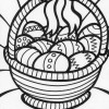 big easter basket coloring page