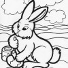 painting easter egg coloring page