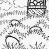 easter field coloring page