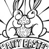 two bunny easter coloring page