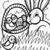 easter chics coloring page
