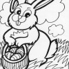 gathering easter eggs coloring page