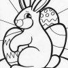 rabbit and eggs coloring page