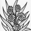 tall flower coloring page