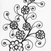 swirly flowers coloring page