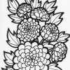 mum flower coloring page