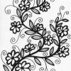 flower on vine coloring page
