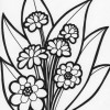 flowers and leaves coloring page