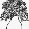 vase of flowers coloring page