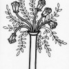 long stem roses coloring page