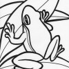 jumping tree frog coloring page
