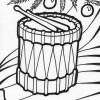 christmas drum coloring page